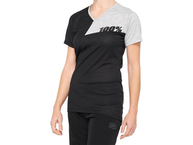 100% Airmatic Jersey Dames, black/grey